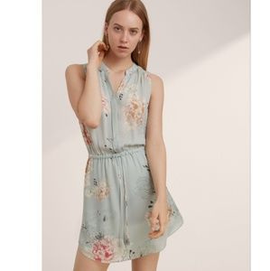 Aritzia Babaton Benedict Silk Dress Floral shift